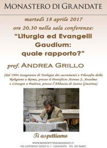 Locandina dell'incontro con il prof. Grillo